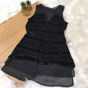 Astro Black Velvet Tunic Dress #975